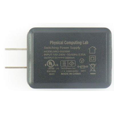 Photo2: Power supply set (5V3.0A) for Raspberry Pi - Pi 3 full load verified