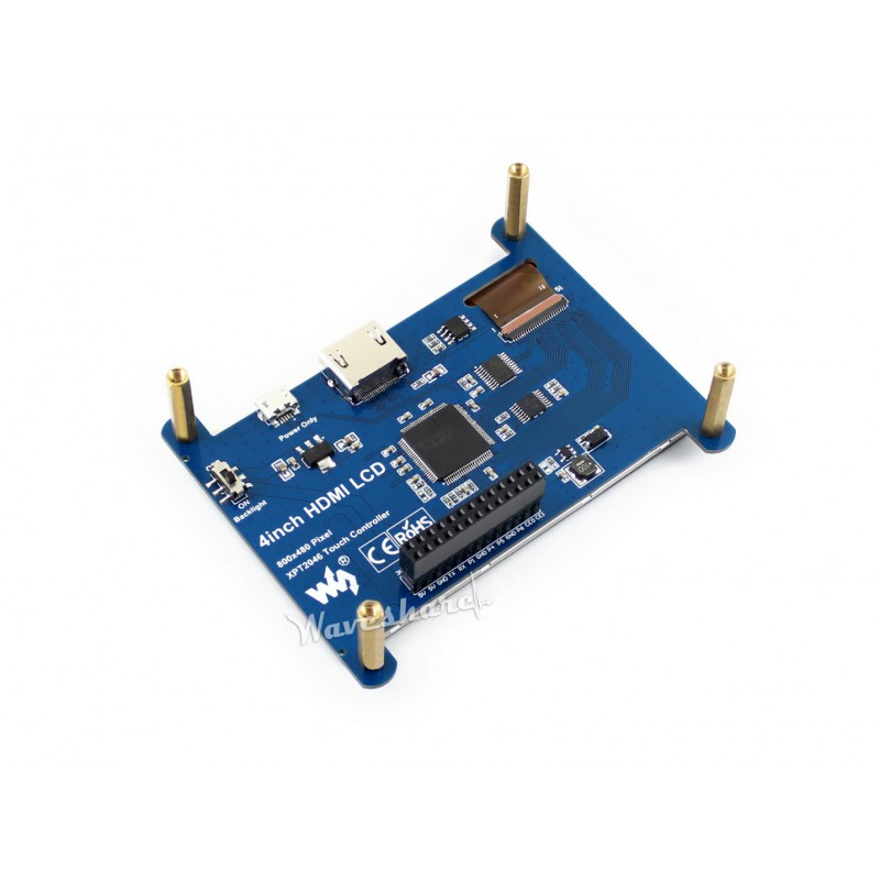 4inch HDMI touch screen LCD, IPS for Raspberry Pi, 800x480